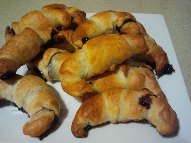 Croissants de hojaldre